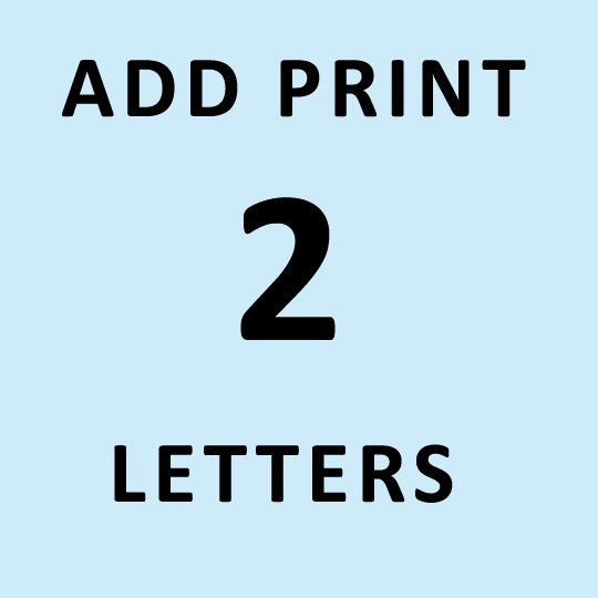 2 LETTERS PERSONALIZED PRINT